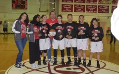 The Lady Atoms win their senior night game