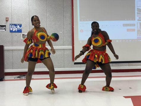 Students perform a cultural African dance.
