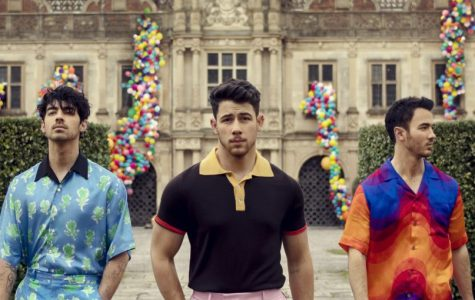 "The Jonas Brothers (picutred above) pose in front of their house for their new single ""Sucker."""