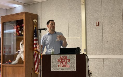 "Seth Blanchard speaks at ""AHS Meets the Press"""