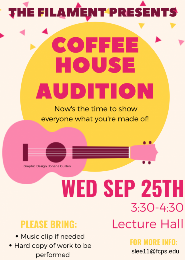 Coffee House auditions to be held today