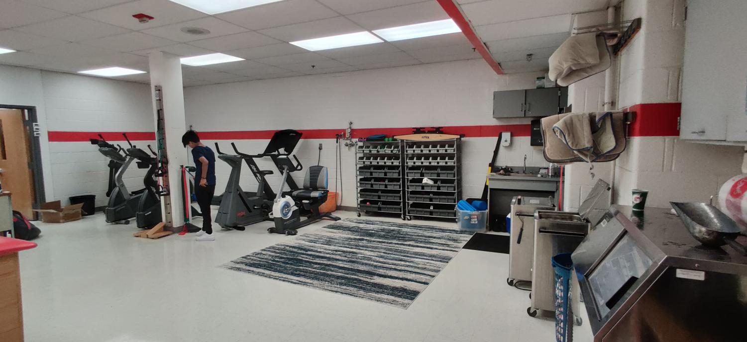 The athletic training room is where injured players come to get back on the field