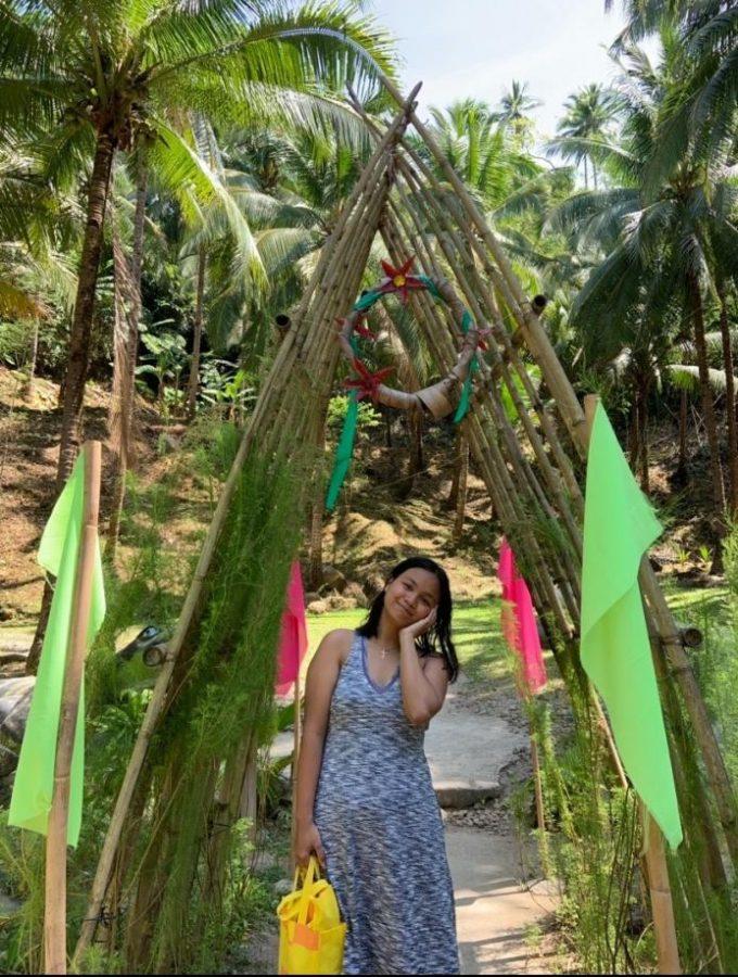 Janine Impat visits the Cagsawa Ruins.