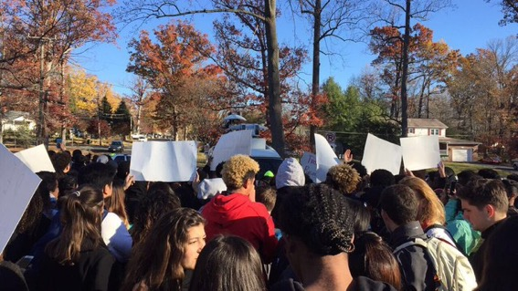 Following the election of President Donald Trump in 2018, students at AHS staged a walk out during the school day.