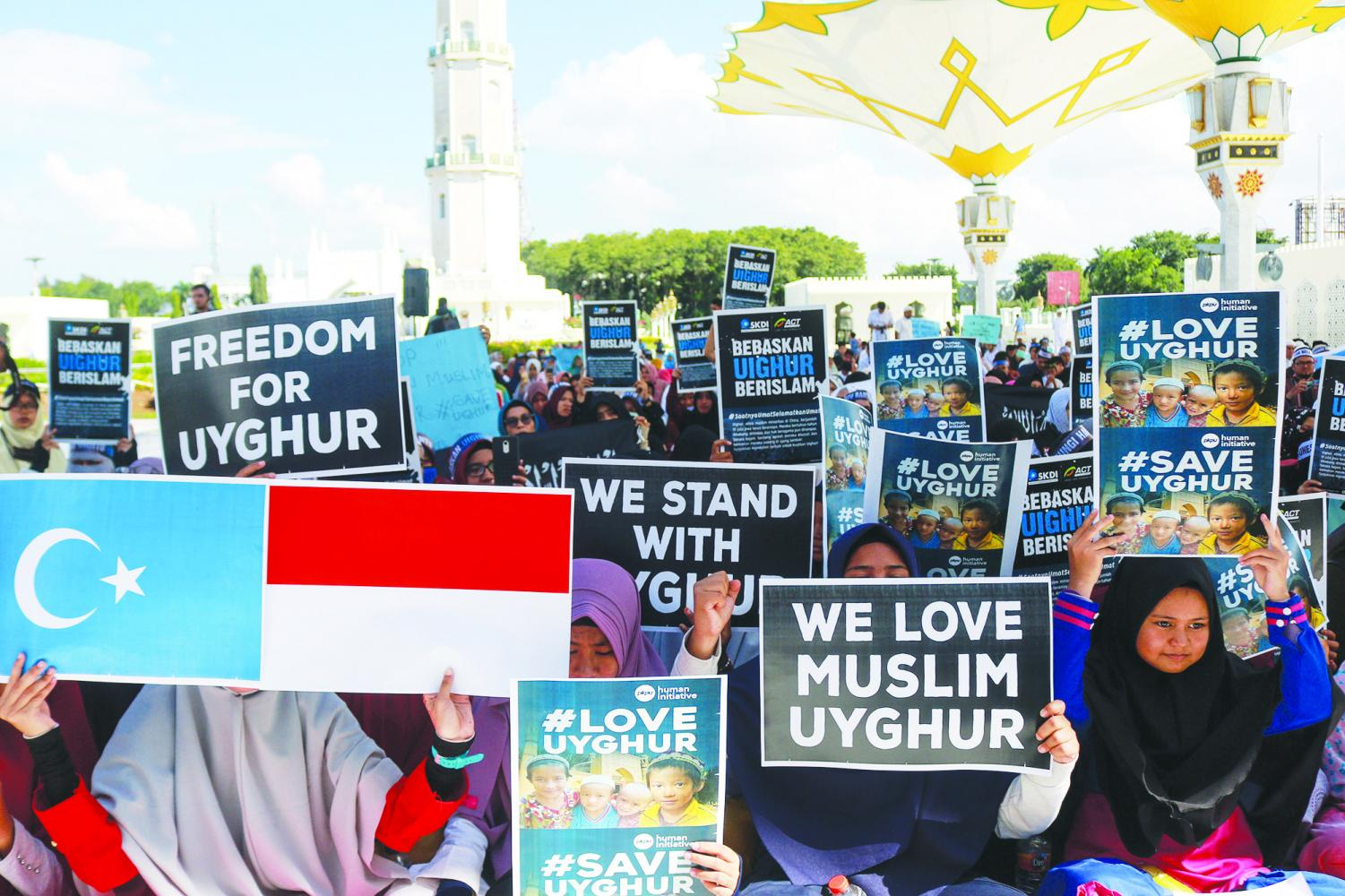 Muslims in Indonesia protest against there own government and press for remaining silent on the China's oppression of ethnic Uighurs.