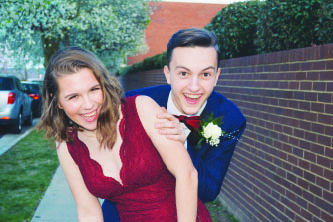 Junior Jackson Fornaris and senior Claire Vaughn attended prom last year at the Torpedo Factory Art Center.