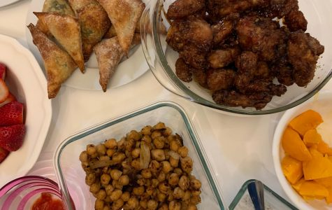 Senior Nuha Khan breaks her fast with a home-cooked meal.