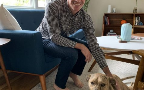 O'Neill and his dog Nyah.