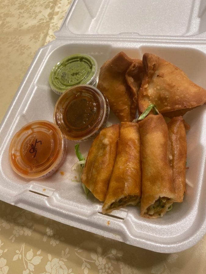 The samosas and rolls were tasty yet affordable.