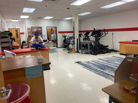 The athletic training room in AHS is where athletes go to heal their injuries.