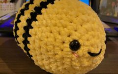 "Yellow crochet bees are one of the products that Hannan plans on selling. ""For my first launch, I plan on making three to four different colors,"" Hannan said."